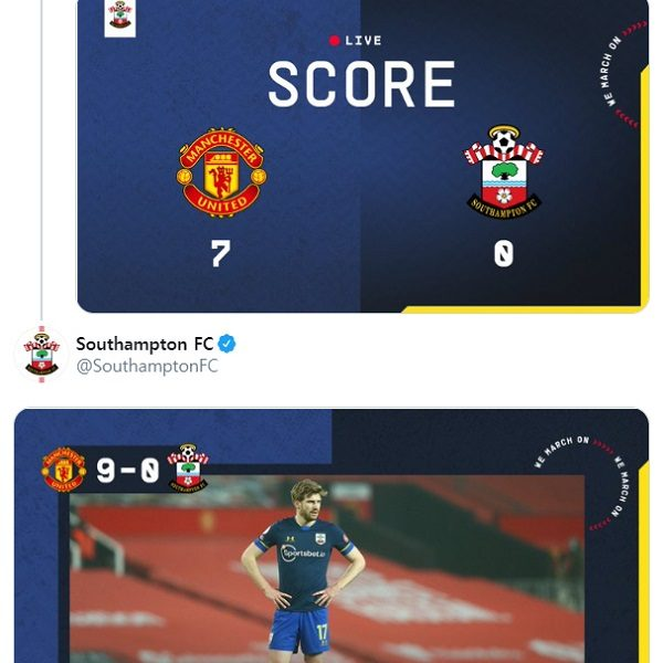I can't do this anymore. 0-9 Southampton social media loss notice waived