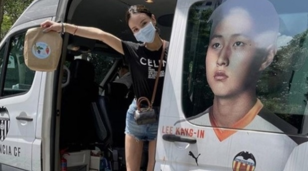 In two years, the Valencia president van, which had Lee Kang-in